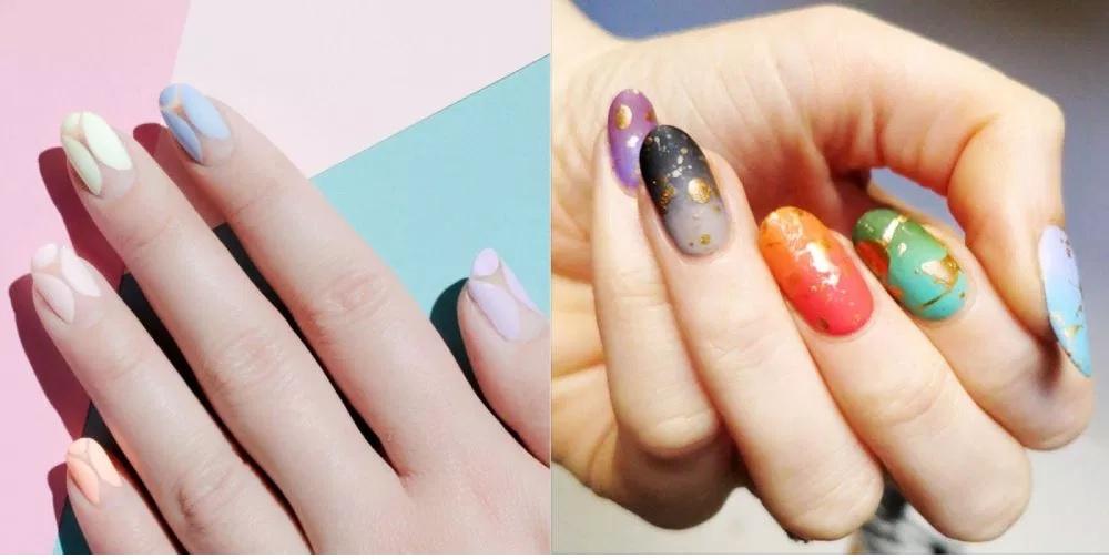 Tie-dye Nail Art Shine
